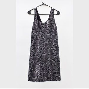 Michael Kors Gray Snake Print shift dress size 8